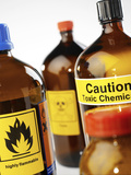 Hazardous Chemicals Photographic Print by Tek Image