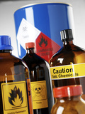 Hazardous Chemicals Photographic Print by Tek Image