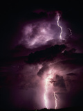 Summer Lightning Storm Near Tuscon, Arizona, USA Photographic Print by Keith Kent