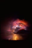 Summer Lightning Storm Near Tucson, Arizona Posters by Keith Kent