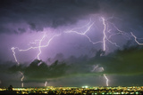Summer Lightning Storm Over Tucson Prints by Keith Kent
