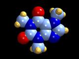 Caffeine Molecule Poster von Dr. Mark J.
