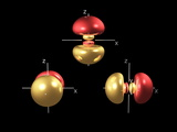 3p Electron Orbitals Photographic Print by Dr. Mark J.