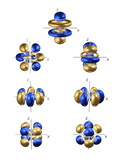 5f Electron Orbitals, General Set Premium Photographic Print by Dr. Mark J.