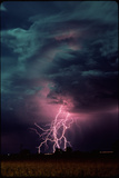 Lightning Over Sterling, Colorado Print by Keith Kent
