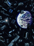 Earth Satellites Photographic Print by Coneyl Jay