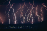 Lightning Near Barstow, California Posters by Keith Kent