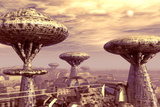 Futuristic City Photographic Print by Coneyl Jay
