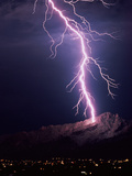 Lightning Over Tucson Photographic Print by Keith Kent