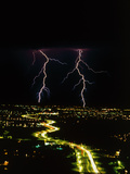 Lightning Over Tucson, Arizona. Photographic Print by Keith Kent