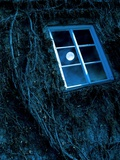 Full Moon Reflected In a Window Photographic Print by Richard Kail