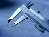 Vernier Calipers Photographic Print by Tek Image