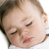 Sleeping Baby Girl Photographic Print by Science Photo Library