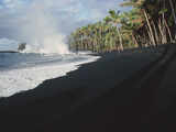 Lava Flow on Kaima Beach, Hawaii Photographic Print by Brad Lewis