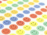 Smiley Face Stickers Print by Tek Image
