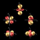 3d Electron Orbitals Fotografisk tryk af Dr. Mark J.