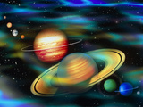 Computer Artwork of Solar System Planets Prints by Mehau Kulyk