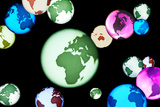Earth Globes, Composite Artwork Prints by Lawrence Lawry