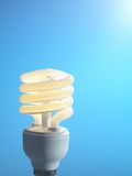 Energy-saving Light Bulb Photographic Print by Tek Image