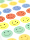 Smiley Face Stickers Prints by Tek Image