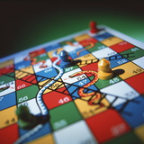Snakes And Ladders Photographic Print by Tek Image