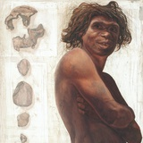 Gran Dolina Boy Reconstruction Photographic Print by Kennis and Kennis