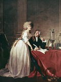 Lavoisier And His Wife, 1788 Lámina por Science Photo Library