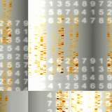 DNA Autoradiograms And Numbers Photographic Print by Mehau Kulyk