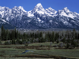 Teton Mountain Range Photographic Print by Brad Lewis