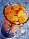 Chopped Carrots (Daucus Carota) Photographic Print by Veronique Leplat