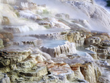 Mammoth Hot Springs Mineral Terrace Prints by Brad Lewis