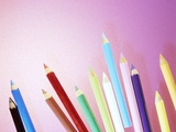 Pencil Crayons Photographic Print by Lawrence Lawry