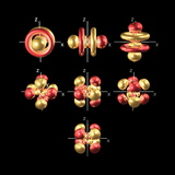 5f Electron Orbitals, Cubic Set Premium Photographic Print by Dr. Mark J.