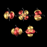 5d Electron Orbitals Premium Photographic Print by Dr. Mark J.