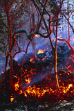 Hot Ash From Kilauea Volcano Photographic Print by Brad Lewis
