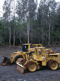 Bulldozing a Rainforest, Hawaii Photographic Print by Brad Lewis