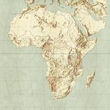 Map of Africa Fotografisk tryk af Mikkel Juul