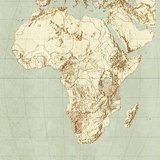 Map of Africa Photographic Print by Mikkel Juul