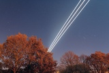 Aeroplane Light Trails Photographic Print by Laurent Laveder
