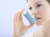 Asthma Inhaler Use Photographic Print by Gavin Kingcome