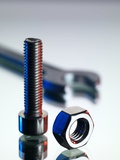Nut And Bolt Photographic Print by Tek Image