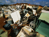 Discarded Metal Goods In a Landfill Site Photographic Print by Brad Lewis