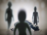 Alien Abduction Photographic Print by Richard Kail