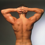 Naked Torso (back View) of An Athletic Young Man Premium Photographic Print by Phil Jude