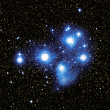 Optical Image of the Pleiades Star Cluste Photographic Print by Celestial Image