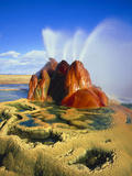 Fly Geyser In the Black Rock Desert, Nevada, USA Posters by Keith Kent