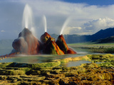Fly Geyser In the Black Rock Desert, Nevada, USA Print by Keith Kent