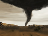 Computer Illustration of a Tornado Photographic Print by Mehau Kulyk
