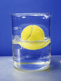 Tennis Ball Floating In Water Posters by Andrew Lambert