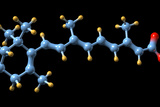 Vitamin a (retinoic Acid) Molecule Poster by Dr. Mark J.